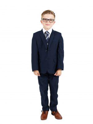 Boys 5 Piece Suits Boys 5 Piece Suit Slim Navy