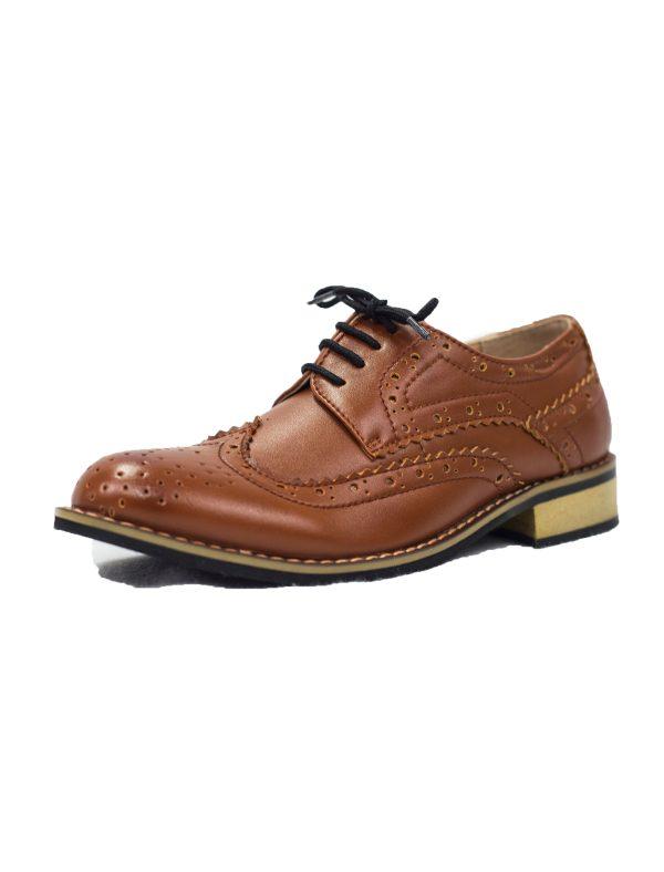 Boys Brown Brogue Vivaki Shoe