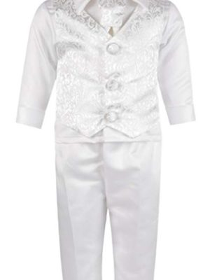 Baby Boys Suits 4 Piece Romeo Christening Suit in White