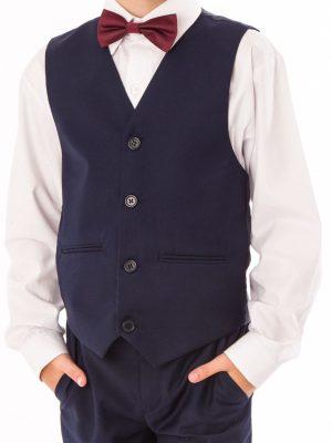 Boys 4 Piece Waistcoat Suits Boys 4 piece Suit Navy Short Set