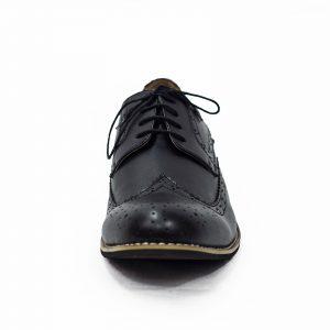 Boys Black Brogue Vivaki Shoe