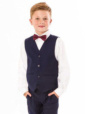Baby Boys Suits Boys 4 Piece bow tie suit Navy