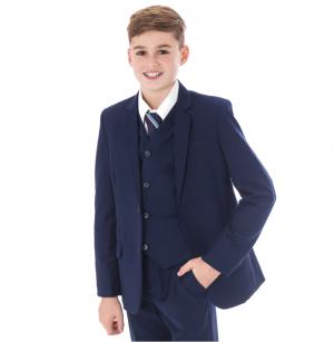 Boys 5 Piece Suit Slim Navy