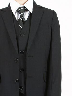Boys 3 Piece Suits Boys 5 Piece Suit Slim Black