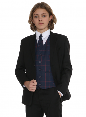 5pc Black Suit with Navy Connor