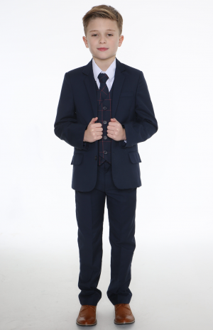 5pc Navy Suit with Navy Connor