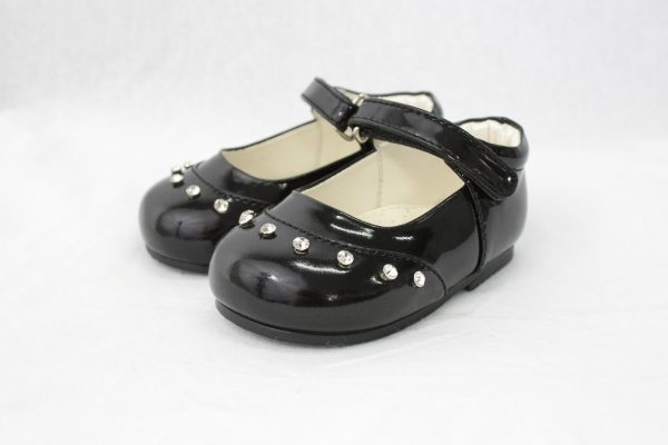 Early Steps Girls Black Fairy Shoes