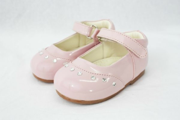 Early Steps Girls Pink Fairy Diamond Shoes