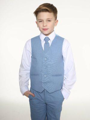 Baby Boys Suits Boys 4pc Blue Linen short set