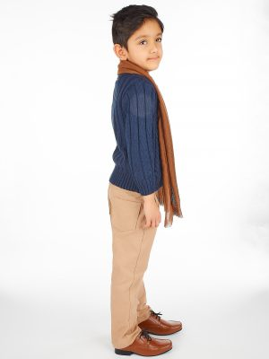 Boys 5 Piece Suits 5pc Boys Casual Outfit with Navy Cardigan