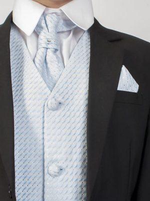 Boys 5 Piece Suits 5 Piece Black with Blue Philip