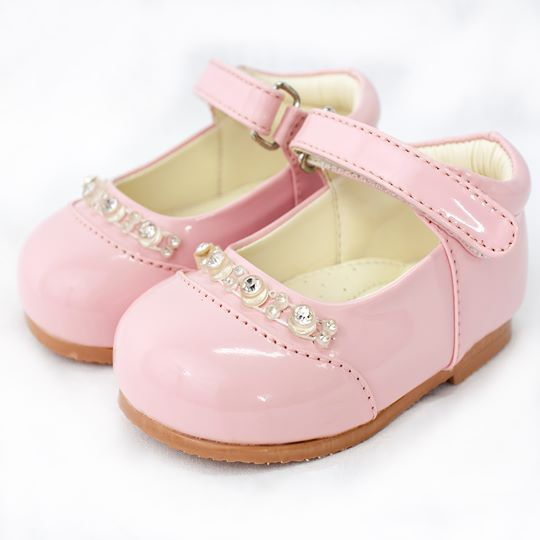 Early Steps Girls Pink Diamond Shoes