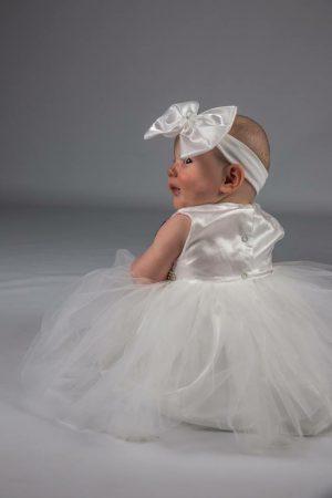 Baby Girls Dress Set Ivory