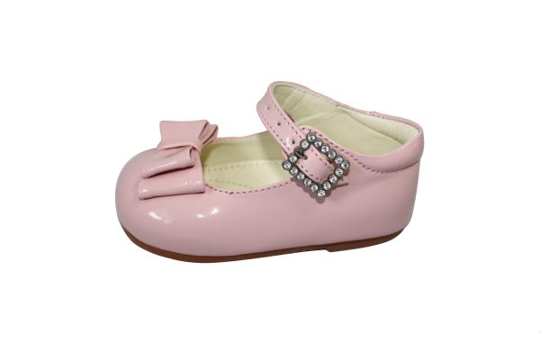 Pink Patent Shoes With Bow Feature