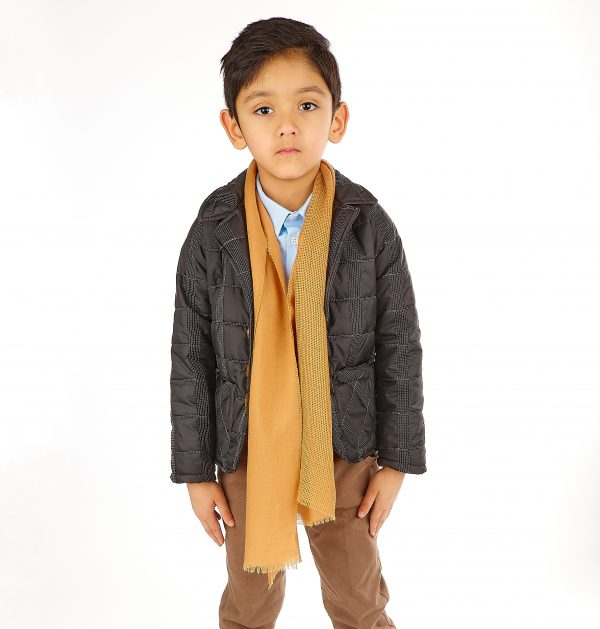 5pc Boys Casual Outfit with Black Jacket Suit