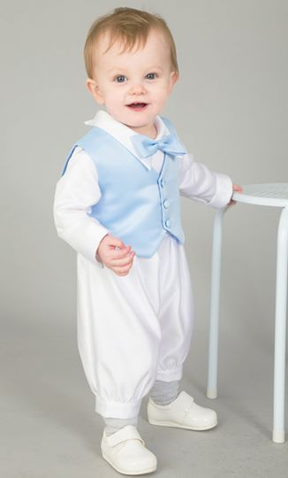 3 Piece Charlie Christening Suit In Light Blue