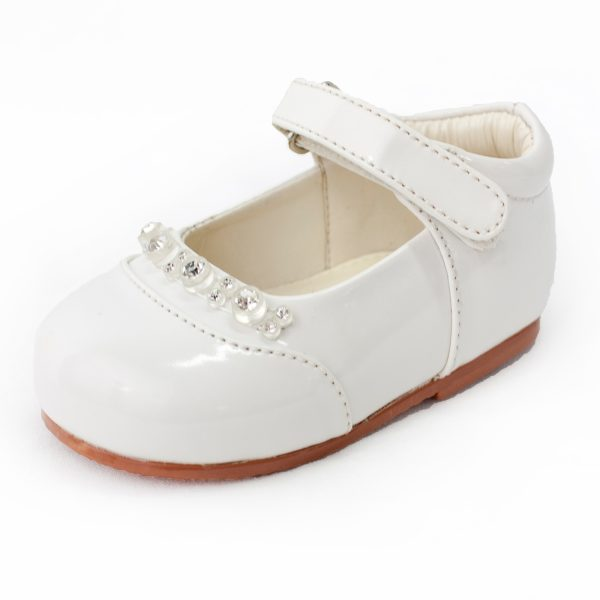 Early Steps Girls White Diamond Shoes