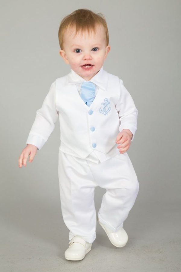 4 Piece Nelson Christening suit in Light Blue