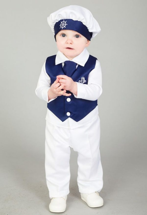 4 Piece Nelson Christening suit in Navy