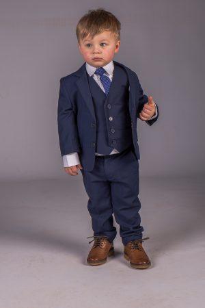 Boys 5 Piece Baby Boy Suit Royal Blue