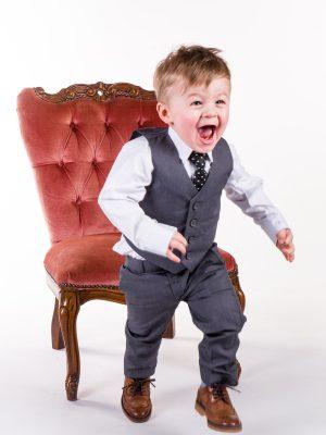 Baby Boys Suits Boys 5 piece Baby Boy suit Grey Romario
