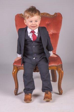 Boys 5 Piece Baby Boy Suit in Navy Romario