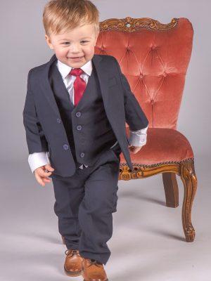 Baby Boys Suits Boys 5 Piece Baby Boy Suit in Navy Romario