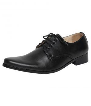 Boys Black Matte Derby Shoe