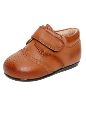 Boys Shoes Early Steps Brown Strap Brogue