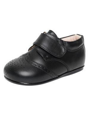 Boys Shoes Early Steps Black Strap Brogue