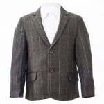 brown check tweed jacket