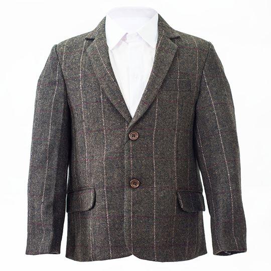 Tweed Check Brown Jacket