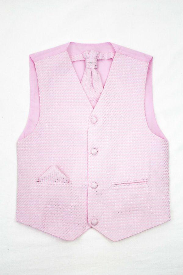 Boys Pink Waistcoat Philip