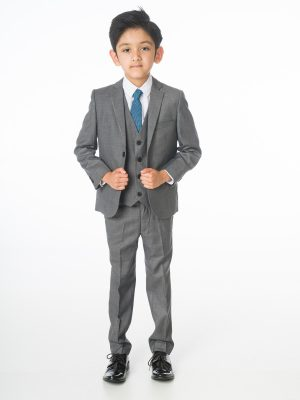 Baby Boys Suits Boys Grey Suit, 5 Piece Milano Mayfair – James