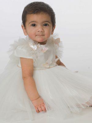 Baby Girls Dresses Baby Girls Butterfly Dress in Ivory