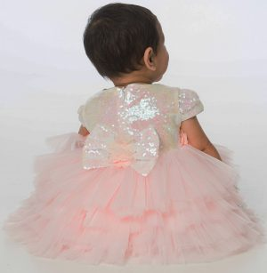 Baby Girls Sequin Dress in Pink