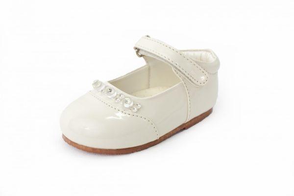 Early Steps Girls Cream Diamond Shoes