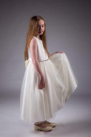 Girls Ivory Dress Amy