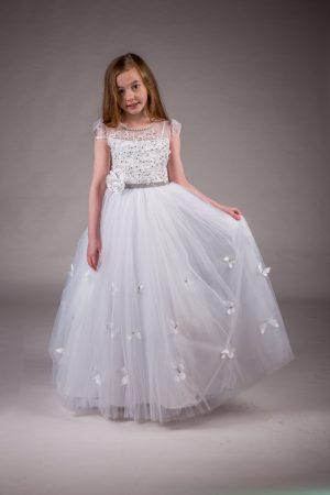 Girls Communion Dress White Ellie