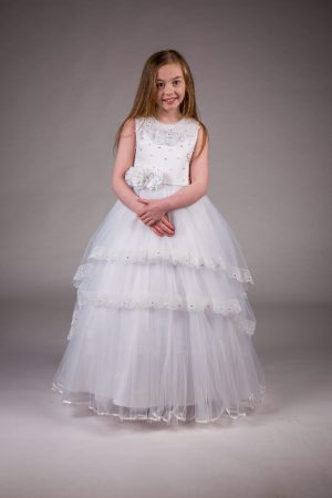 Girls Communion Dress White Zoe