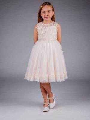 Flower Girl Dresses and Bridesmaid Dresses Girls Peach Dress Juliet