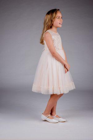 Girls Peach Dress Juliet