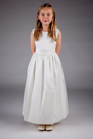 Girls Lucy Dress in Ivory