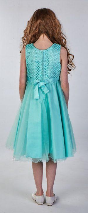 Girls Sparkle Bow Dress Mint