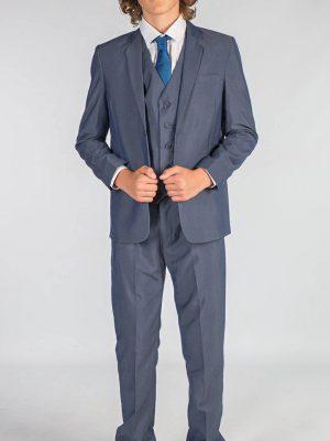 Boys 3 Piece Suits Boys 5 Piece Petrol Blue Suit