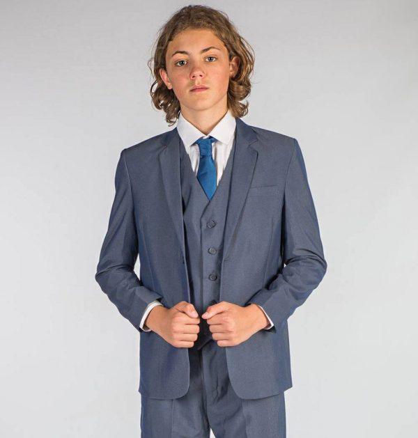 Boys 5 Piece Petrol Blue Suit