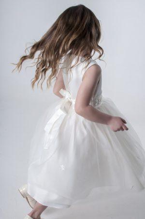Girls Jasmine Dress in Ivory