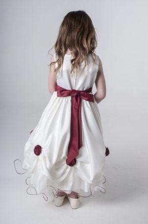 Girls Wine Dress Amelia