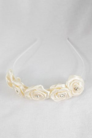 Rose Headband in Cream
