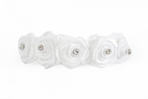 Rose Headband in White